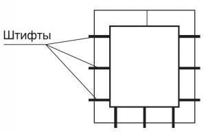 Прямоугольное сечение воздуховода