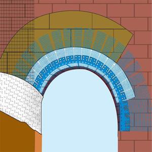 Профиль ПВХ арочный со стеклосеткой